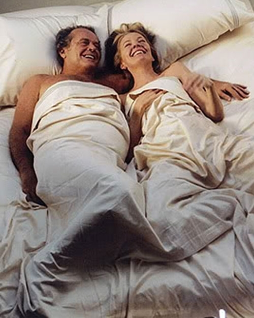 "Jack Nicholson and Diane Keaton in ""Something's Gotta Give"": Sexy AND Older? That's crazy talk, right??"