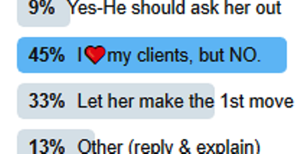 Twitter Poll - Client wants escort to be girlfriend
